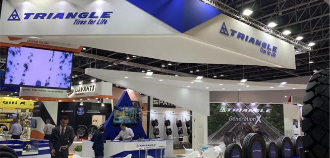 Triangle TIres In Dubai Auto Mechanika Exhibition