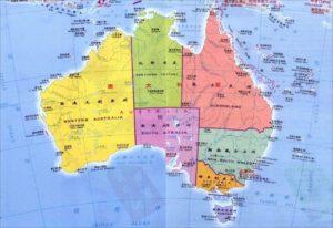 澳大利亚行政区划图,澳洲地图