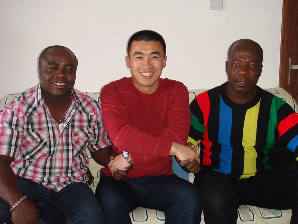 African Togo Tyre Customer Visit Qingdao on April 2009