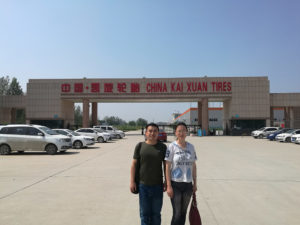 Australian Tyre Customer Ms. Maggie visiting Kaixuan Tyre Factory on Sep. 2018