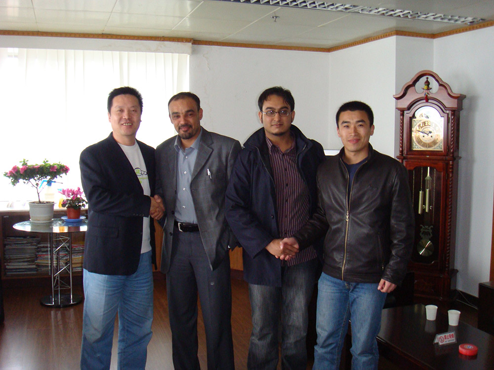 Libyan tyre customer Nasser and Shoeb visit Qingdao in March of 2008