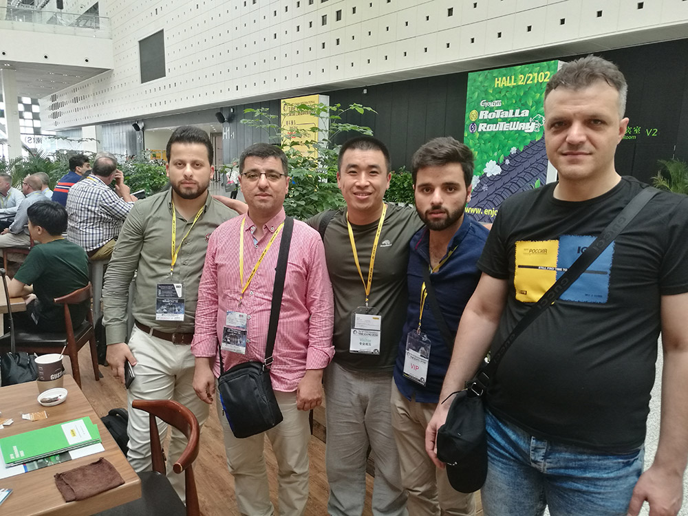 Syrian Tyre Customer Mr. Moustafa team visiting Shanghai Tyre Expo Show on Sep. 2018