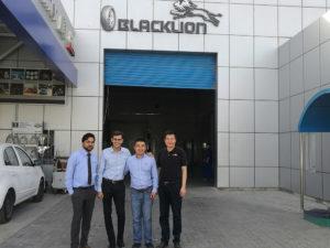 Visiting Dubai Tyre Dealer with Mr. Jignesh on April 2018