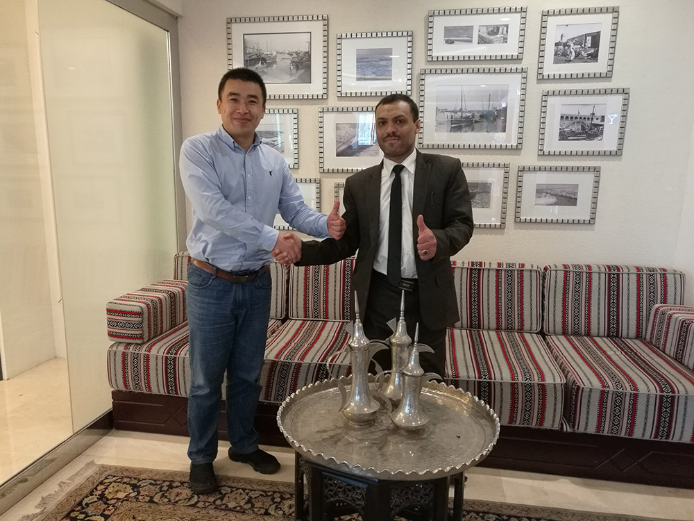 Yemen Tyre Customer Mr. Daris in Dubai on May 2018