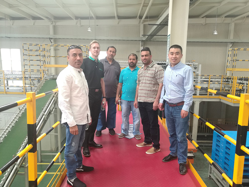 Omani Tyre Client RSM with Omani Officials visiting Jinyu Factory on April 2018