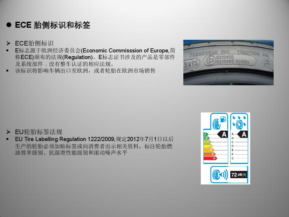 ECE轮胎胎侧标识和EU标签法规