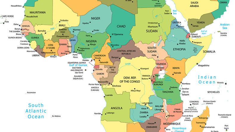 非洲国家地图和区域划分