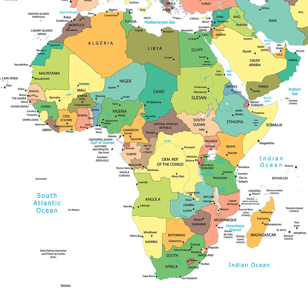 非洲国家地图