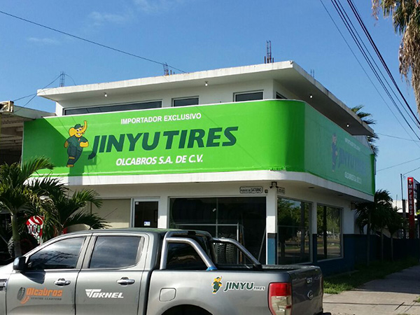 Jinyu Tyres Mexico Customer Advertising