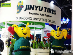 Jinyu Tires in Dubai Tyre Exhibision