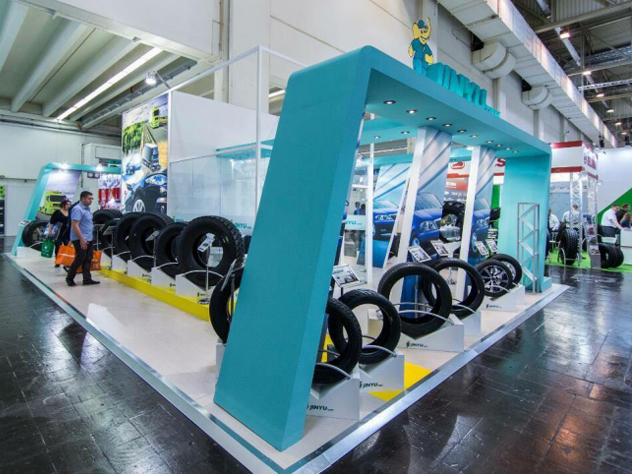 Jinyu Tyres in Asia Tyre Exhibition