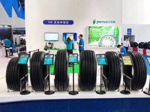 Jinyu Tyres in China Tyre Exhibition
