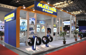 MaxTrek Car tyres in exhibition