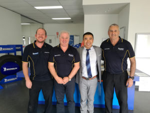 Mike Cao visit West Australian Michelin Distributor