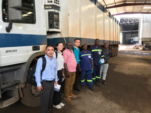 Visiting Cameroon Jinyu Tyre Distributor Truck Fleet Client