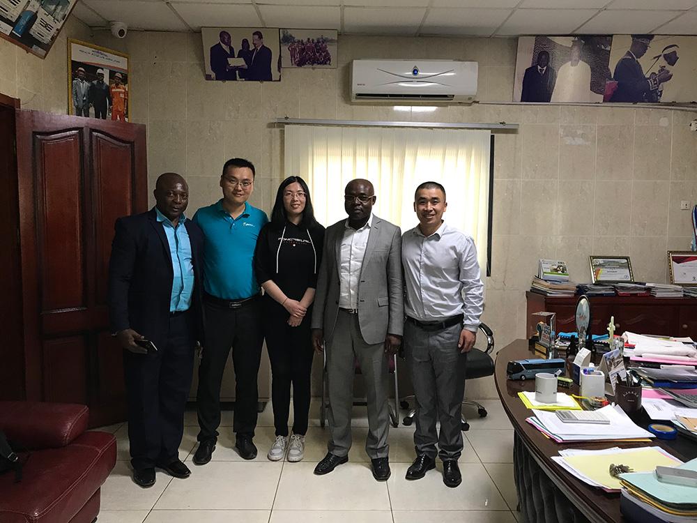 Visiting Cameroon Jinyu & Linglong Truck & Bus Tyre Distributor