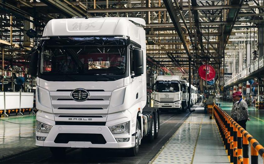 China FAW Jiefang trucks assembly factory