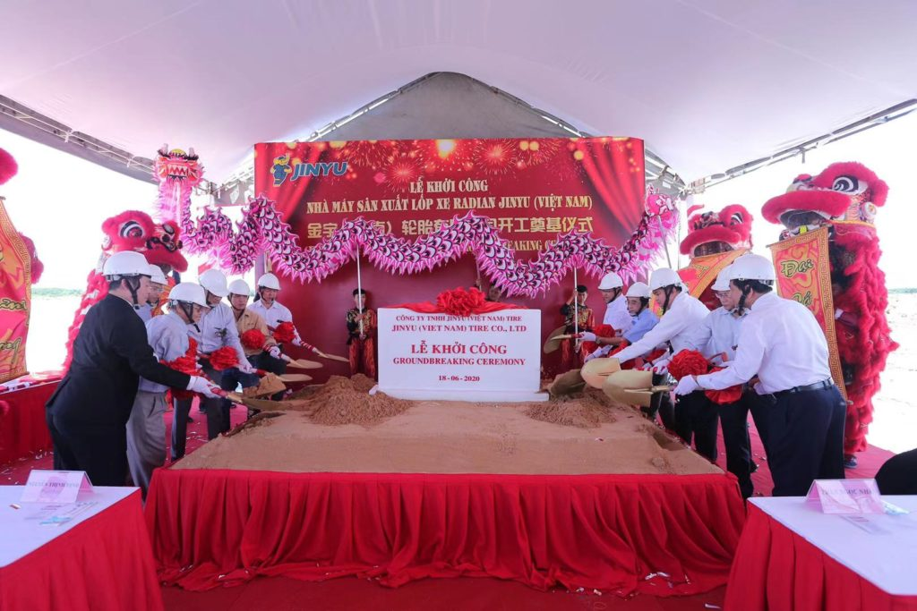 Jinyu Tire Group Vietnam Factory 2 Million TBR Tyre Project Starts Construction