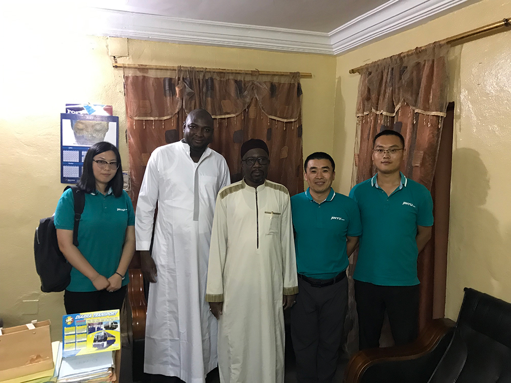 Jinyu Tire Group Africa Team Visited Mali TBR Partner and Market in 2019
