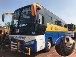 Mali Coach Bus are using Jinyu tyre replacing Michelin