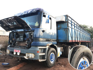 Dakar Segenal to Bamako Mali trucks are using Jinyu Tyre