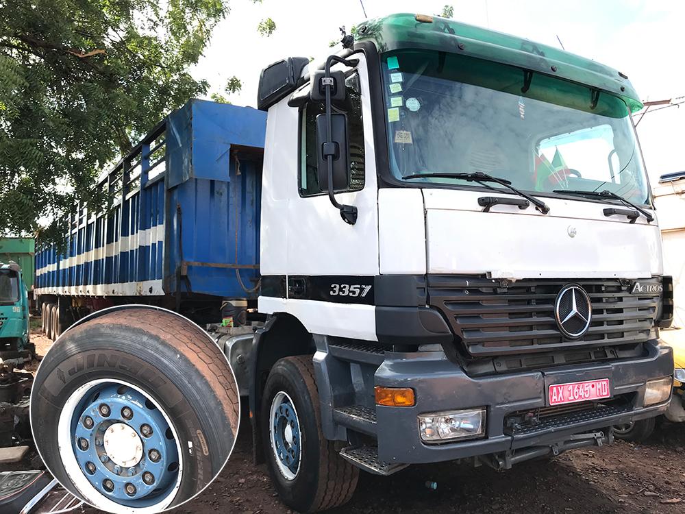 Mali long haul heavy truck are using Jinyu 385/65R22.5 for steer