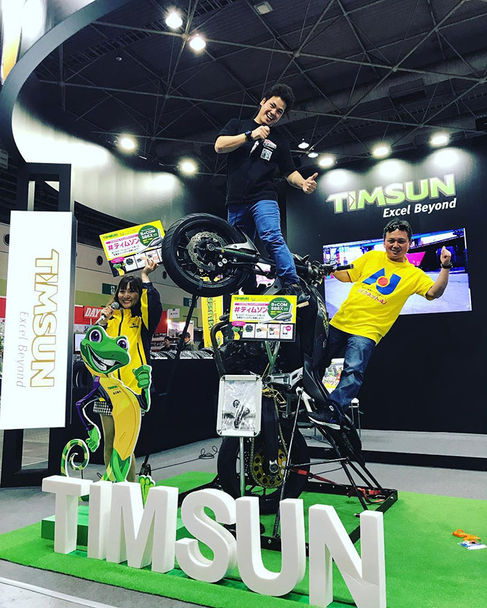 TIMSUN attended Tokyo and Osaka motorcycle fairs
