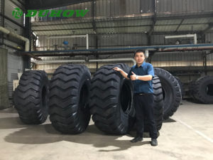 Mike Cao at Duhow OTR Tyres Factory Workshop